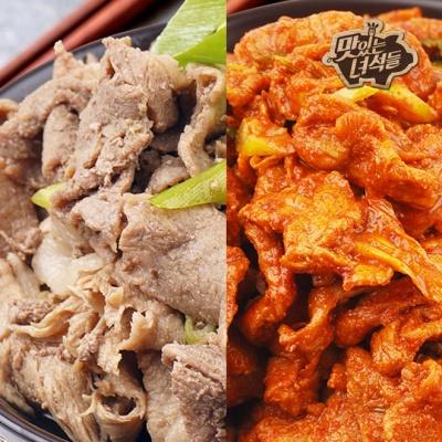 맛있는녀석들 돼지불백/흑돼지 두루치기 4팩 모음