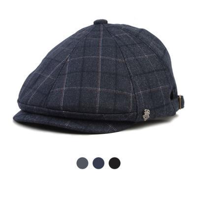 [디꾸보]큰 체크 사이즈 조절 숏챙 헌팅캡 모자 HN433