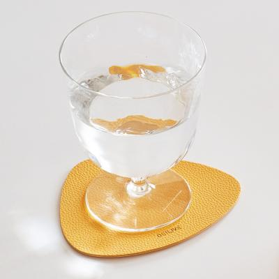 주방 홈데코 방수 양면 가죽 디자인 티코스터 컵받침