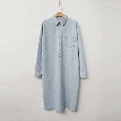 Denim H Shirt Long Dress