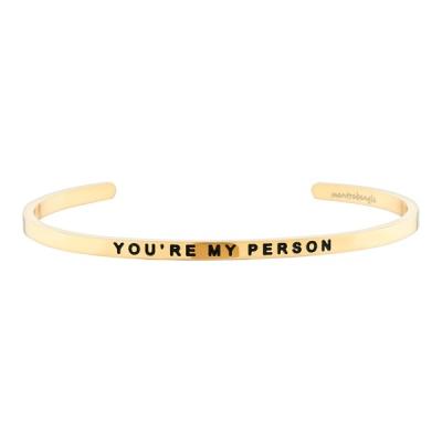 [만트라뱅글] YOU`RE MY PERSON - 골드