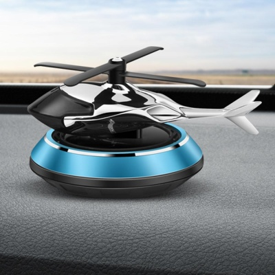 태양열 프로펠러 헬리콥터 차량용 자동차 방향제 플라