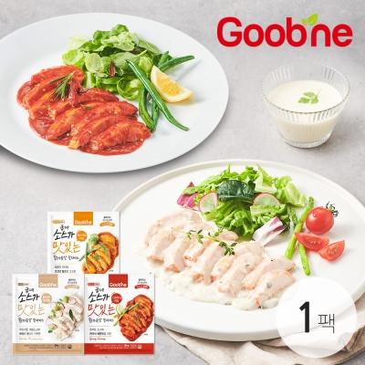 [굽네]소스가 맛있는 닭가슴살 슬라이스 3종 1팩