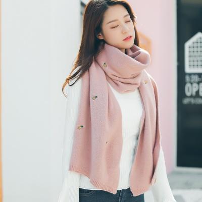 파인 니트 목도리(핑크) (여성용)