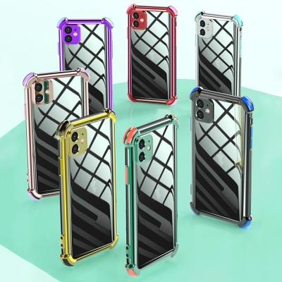 아이폰11 프로 맥스/카메라보호 컬러 범퍼 투명케이스
