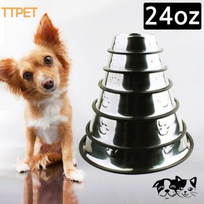 티티펫 스텐식기 (24oz) (애완용 식기)