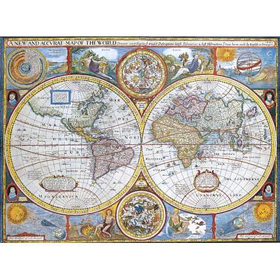 1000조각 직소퍼즐▶ 세계 고지도 (EU6-2006)