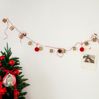 목화와 크리스마스 이니셜가랜드 전구세트