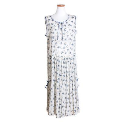 [쿠비카]민소매 원피스 플라워 여성잠옷 W488
