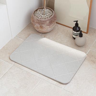다이아몬드 3D 음각 규조토 발매트 욕실 자취필수템 L