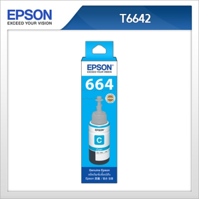 엡손(EPSON) 정품 잉크 T664200 Cyan T6642 L100 / L110 / L200 / L210 / L300 / L350 / L355 / L550 / L555 파랑잉크