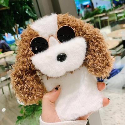 아이폰12 11 PRO MAX SE2 8 선글라스 강아지 털케이스