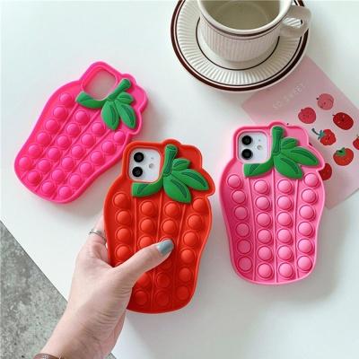 아이폰SE2 8 7플러스 딸기 푸쉬팝 팝잇 뽁뽁이 케이스
