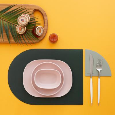 가죽 식탁매트 테이블매트-브런치
