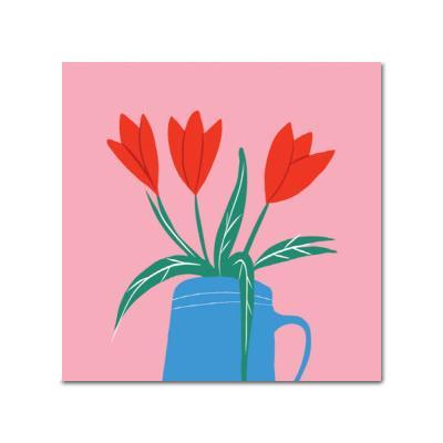 DIY 페인팅 붉은 튤립 P4 (25x25)