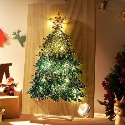 크리스마스 트리 스트링아트(우드/LED)