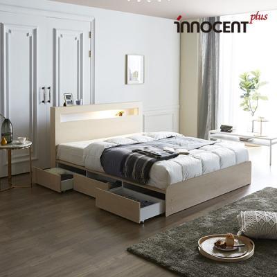 [이노센트] 리브 메시아 LED 멀티수납형 침대 Q/K