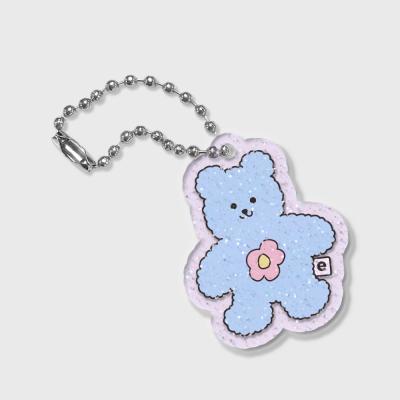 Blossom bear friends-blue(글리터키링-퍼플)