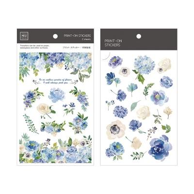 Miccudo 프린트-온 스티커 Ver.2 (6. ChengBlue Rose)