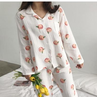 거즈면 100% 피치 파자마 잠옷세트