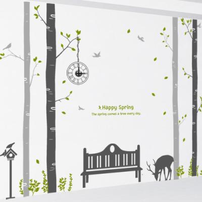 ig099-휴식을주는나무숲_그래픽시계(중형)