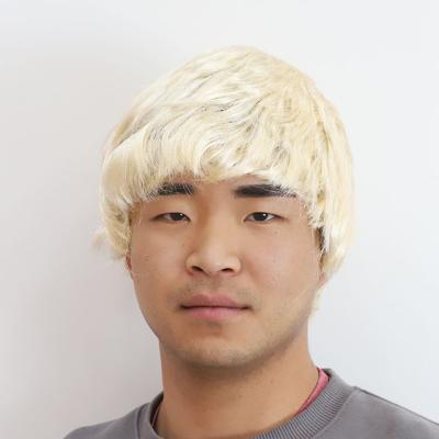 남자 아이돌 가발 (금발)