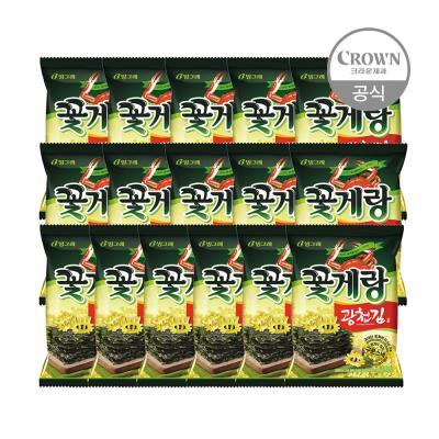 빙그레 꽃게랑 광천김 70g x 16개