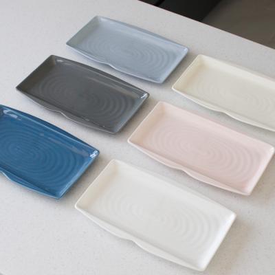 (국산)쏠레이 스마일 모듬사각 접시- 6color