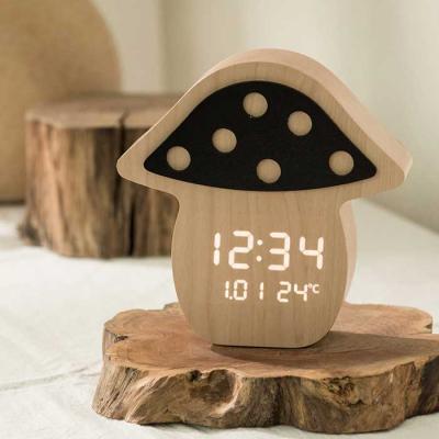 Home interior 아담한 버섯 LED 탁상시계