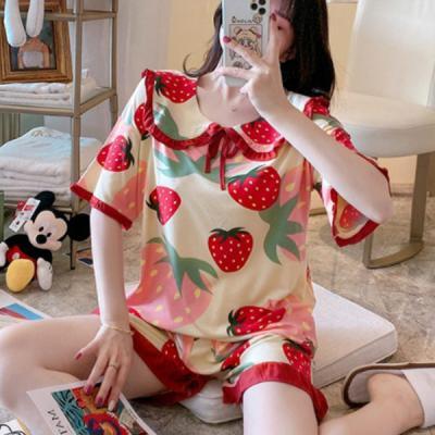 딸기잠옷 반팔 여름잠옷 곰돌이 홈웨어 파자마세트