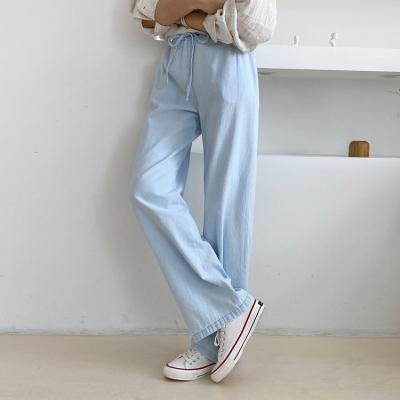 Summer Banding Wide Jeans