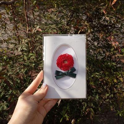 [이본느모건] 카네이션 입체자수 카드 DIY 키트