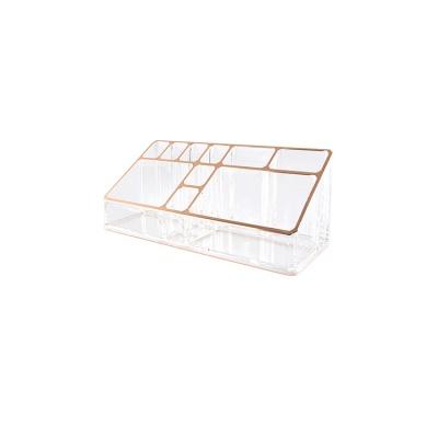 핑크박스 화장품 정리함 립스틱파우더케이스 로즈골드