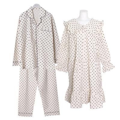 [쿠비카]라운드 도트 프린팅  원피스 커플잠옷 WM295