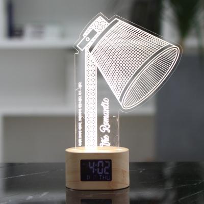 플라이토 아크릴 무드등 로맨틱조명 LED 탁상시계