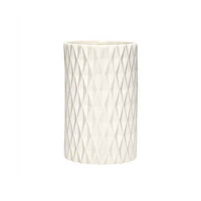 [Hubsch]Vase w/pattern, white 649022 화병