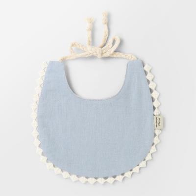 [메르베] 브리즈빕 블루 아기턱받이/침받이_사계절용