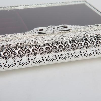 큐티 메탈 직사각 보석 수납 정리함 라지-3색상