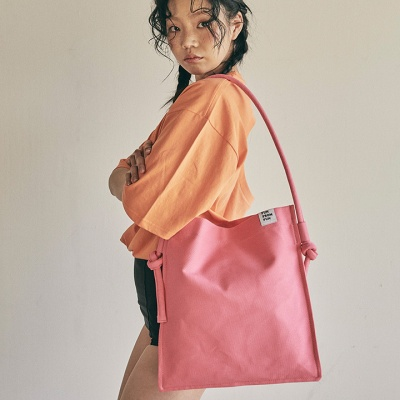 Rope shoulder eco bag_pink