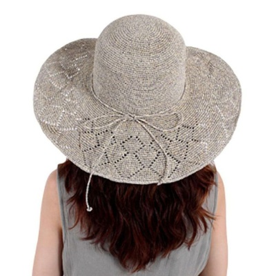 여행 여름 창넓은 휴양지 햇빛가리개 모자 그레이