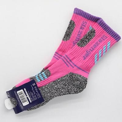 여성 발이 편한 스포츠 등산 양말 핑크색 1켤레