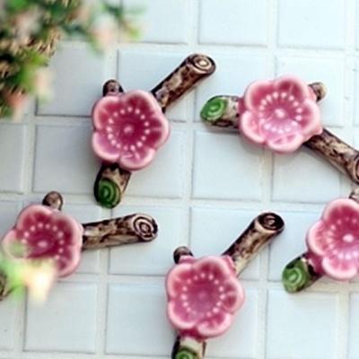 벚꽃 도자기 수저 받침 5종 주방 인테리어
