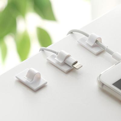 USB 스마트폰 케이블 전선정리 심플 클립 홀더 8EA