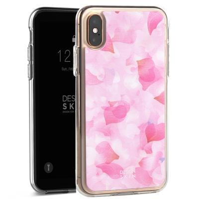 아이폰XS/X 홀로그램 케이스 벚꽃/핑크