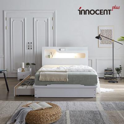 [이노센트] 리브 비아스 LED 큰서랍 침대 Q/K