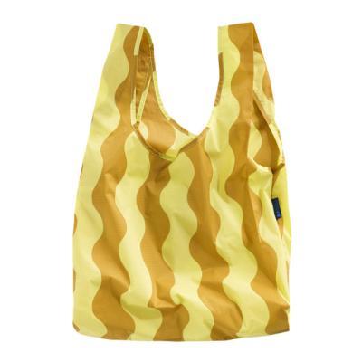 [바쿠백] 장바구니 가방 Yellow and Gold Wavy Stripe