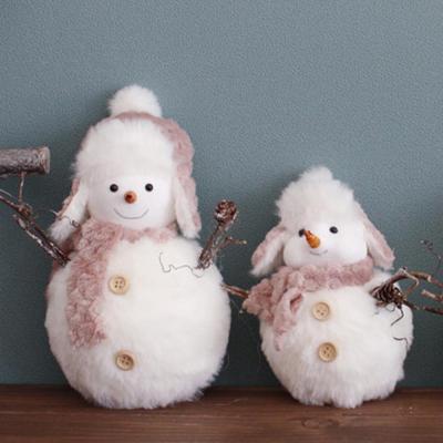 눈사람 인형 장식 2p 귀여운 크리스마스 데코