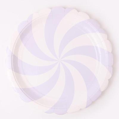 롤리팝 파티접시 23cm - 라벤더(6입)