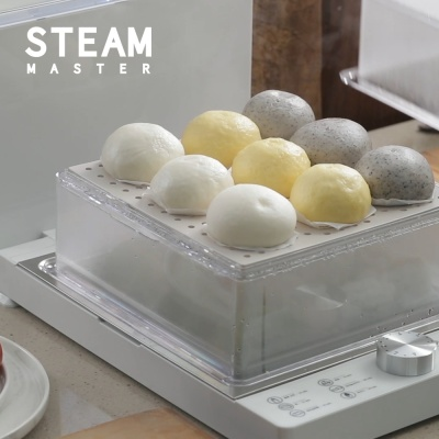 [스팀마스터] 스마트 스티머 2단 찜기 화이트