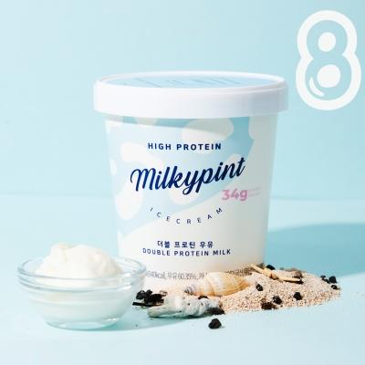 밀키파인트 더블 프로틴 우유 8개입